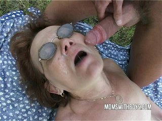 Old Cunt Looked For Flowers But Found Big Cock