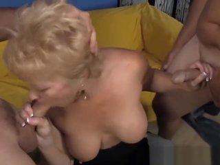 Cockhungry Grandma Giving Bjs All Over the Place
