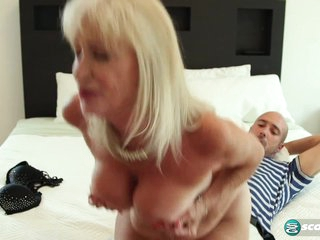 64-year-old Leah fucks. Her hubby watches. - 60PlusMilfs