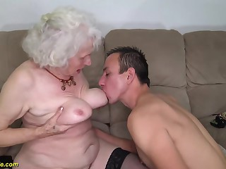 91 years old mom deep banged
