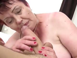 BBW hairy granny love junior cock