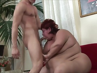BIG BELLY GRANNY S ANAL FUCK