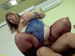 ugly bbw 72 years old mom deep fucked