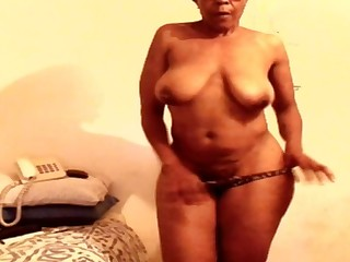 Sexy tanzanian granny striptease