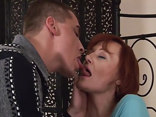 Redhead mature and boy