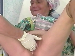 hairy bush 92 years old granny rough fisted anf deep fucked by a doctor