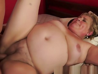 Chubby Euro Granny Pussy Dildoed And Fucked
