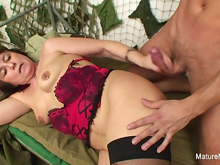 Military Grandma Fucks Him In The Barracks - Mature'NDirty