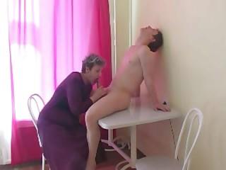 Russian tiny tits granny sc1-table