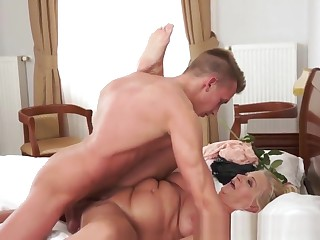 Busty Granny Gives Head