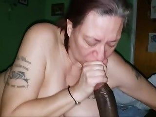 White Granny With A Fat Ass Takes Big Black Cock Like She Supposed Too