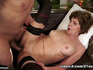 Incredible pornstar in Exotic Grannies, Stockings xxx scene