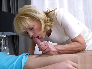 Grandma got seduced and fucked by young guy