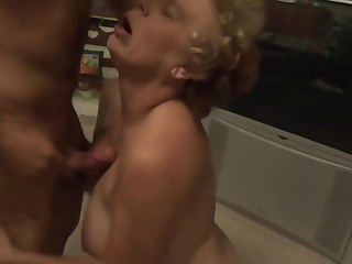 Grandma loves young cock ..... part 1