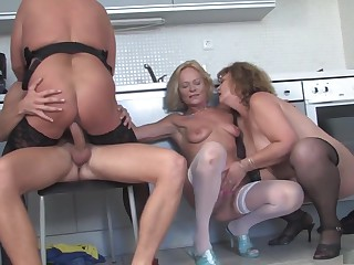 Hottest pornstar in crazy facial, group sex adult video
