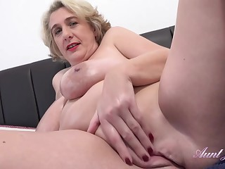 Camilla is a big titted mature who doesn't mind masturbating in front of the camera