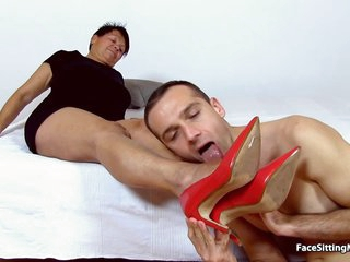 Czech Granny Is Facesitting A Guy She Likes And Enjoying It Because It Feels So Fucking Good